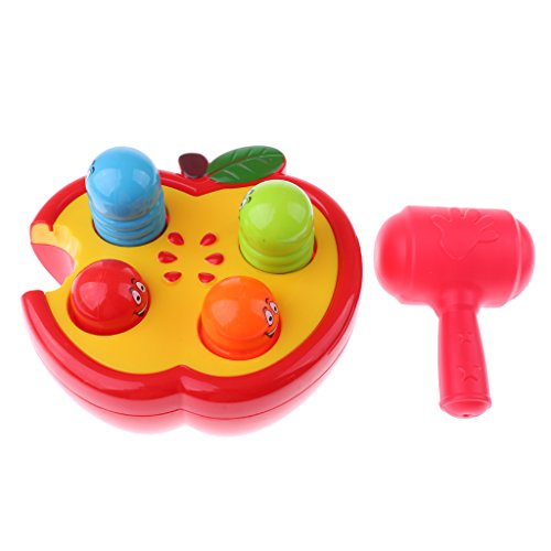 Sharplace Klopfspiel Schlagspiel Hammerspiel - Knocking Wurm im Apfel - Kinder Pädagogisches Spielzeug (äpfel Zu äpfel Kinder)