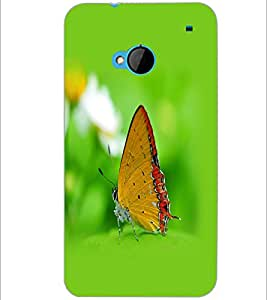 PrintDhaba Butterfly D-1259 Back Case Cover for HTC ONE M7 (Multi-Coloured)