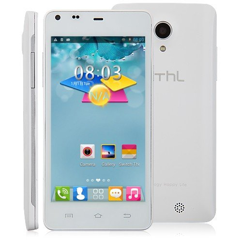 THL T5S SmartPhone Android 4.2 OS MTK6582 Quad Core WCDMA 3G 4.7 inch QHD Screen-Black (White)