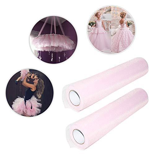 df855602cee3 Rotolo Tulle Rosa Confetto (Confezione da 2)-2x25 Metri