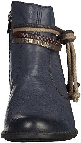 Rieker Y0761 Damen Kurzschaft Stiefel Dunkelblau