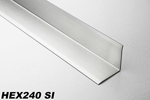 2 Meter Edelstahl Eckschutzprofil Innenecke Fliesenleiste Winkelprofil, HEX240, Oberfläche:Edelstahl gebürstet SI, Kantenhöhe:32mm