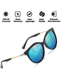 ATNKE moda mariposa gafas de sol de conducción polarizadas para mujeres protección UV400 con diamante delgado