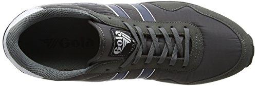 Gola Monaco, Sneaker Uomo Grigio (Grey/navy/white)