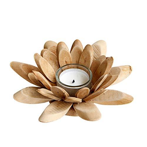 Z3Z Hölzerner Kerzenständer Der Modernen Blume Kerzenhalter Aus Glas Handgefertigt Geeignet Für Zu Hause