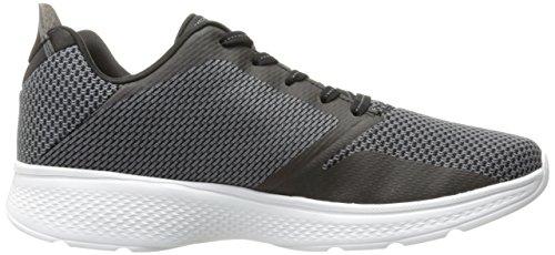 Skechers Go Walk 4-Elect, Chaussures de Running Homme, Noir (Black/Gray), 42 EU