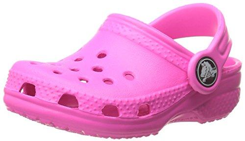 Crocs Classic Kids, Unisex - Kinder Clogs, Pink (Neon Magenta), 24-26 EU