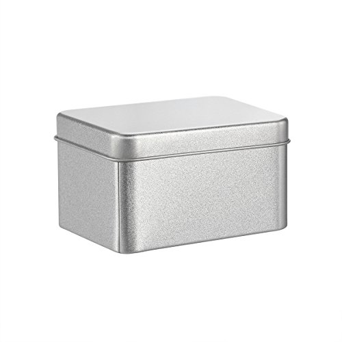 BESTONZON Mattes quadratisches leeres Zinn für das Speicher-Gewürz-Süßigkeits-Tee-Geschenk, das gibt - Silber