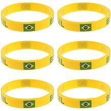b7a95d1df548 STOBOK 20 piezas de silicona de moda coloridas pulseras pulseras Bandas  personalizadas favores de partido perfecto ...