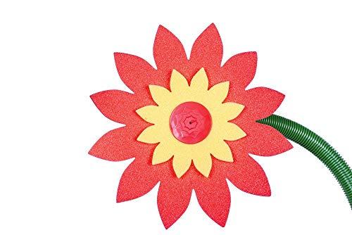 FloraSun 3 Stück Funflower in Schmetterlingsform - die lustige Gartendusche, Wasserspiele zur Gartenbewässerung, rot