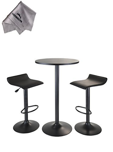 obsidian-3pc-pub-set-round-table-with-2-airlift-stools-all-black-and-with-chanasya-polish-cloth-by-w