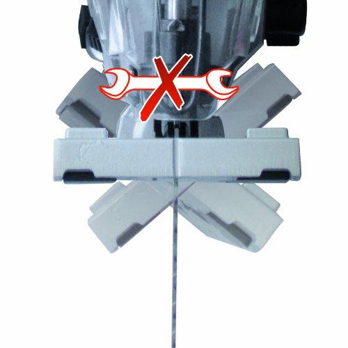 Einhell Stichsäge TE-JS 100 (750 W, max. 100 mm, 45° Schrägschnitt, Hubzahlregelung, 4-Stufen Pendelhub, Absaugadapter, Parallelanschlag, LED-Licht, Koffer) - 6