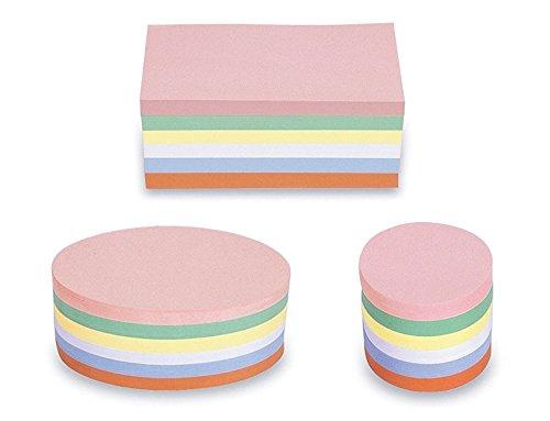 3 Pack im Set - magnetoplan Moderationskarten - Rechteck Oval Rund - 750 bunte Karten für die Moderation farbig sortiert, + gratis 90 Klebepunkte 19mm