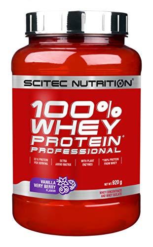 Scitec Nutrition PROTÉINE 100% Whey Protein Professional, vanille-fruit rouge, 920 g