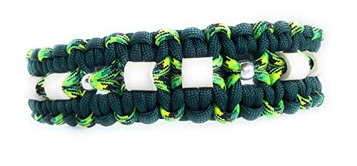 Viva Nature EM-Keramik Anti Zeckenhalsband Zecken-schutzhalsband/verstellbar 35-42 cm \\ Paracord / (35-45 cm, grün)