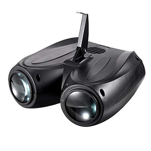Leobtain 128 LED RGBW Double Ead Airship Proyector LáMpara Efecto Escena Luz Fácil de Usar para Hogar Exterior