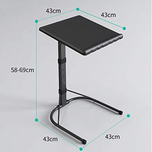 Laptop-schreibtisch Stuhl-set Und (Laptopständer DD Faltende Schwarze Laptop-Tisch-Justierbare Höhe Beweglicher Spiel-Computer-Schreibtisch-Stand-Behälter -Werkbank)