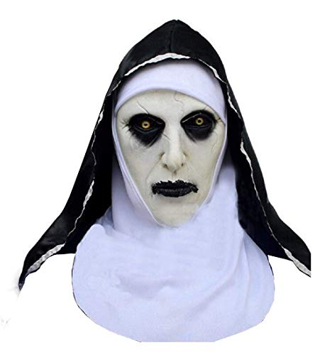 Inception pro infinite Maske - Schwester Assassin Die Nonne Film Horror Kostüm Verkleidung Karneval Halloween Cosplay Zubehör Erwachsene Unisex Mann - Pro Horror Kostüm