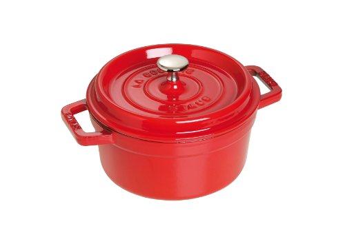 Staub 1102006 - Cocotte redonda, color rojo cereza, tamaño 20 cm width=