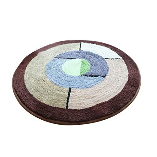 Liangzishop-Bodenschutzmatte Runder Drehstuhl-Computer-Stuhl Anti-Rutsch-Matten-Teppich-Türmatte, Polyester-Material, maschinenwaschbar (Color : C, Größe : 80 * 80cm)