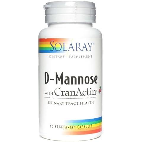 Solaray - D-manosa con CranActin - 60 cápsulas vegetarianas