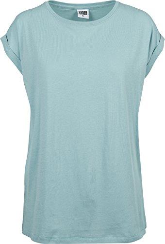 Urban Classics Damen T-Shirt Ladies Extended Shoulder Tee, Bluemint, M
