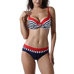 FITTOO Bikini Due Pezzi Costume da Bagno Sexy Donna Push up Imbottito con Pad 24 spesavip