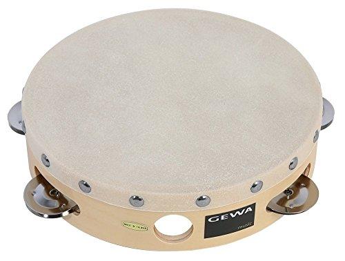 Gewa 841305 Traditionell Tambourin mit Schellen, 20,3 cm (8 Zoll)