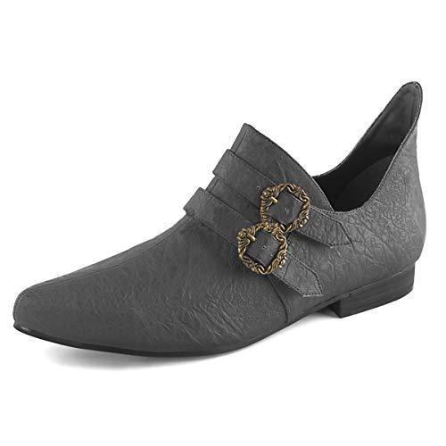 Higher-Heels Funtasma Renaissance Schuhe Aldix-20 schwarz Gr.42 EU (Verkleiden Bauer Kostüme)