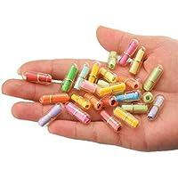 Botellas de plástico con forma de píldora transparente, con forma de mini cápsula, botella de amor de la amistad, con papel