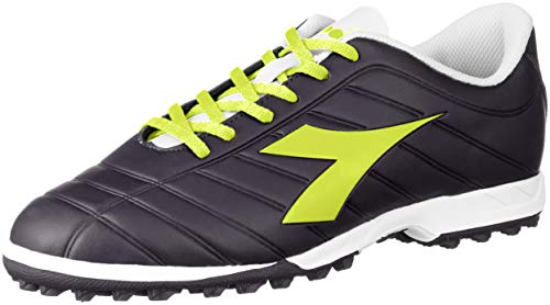 Diadora PICHICHI TF, Scarpe da Calcetto Indoor Uomo, Multicolore (Nine Iron/Yellow Fluo DD C7675), 43 EU