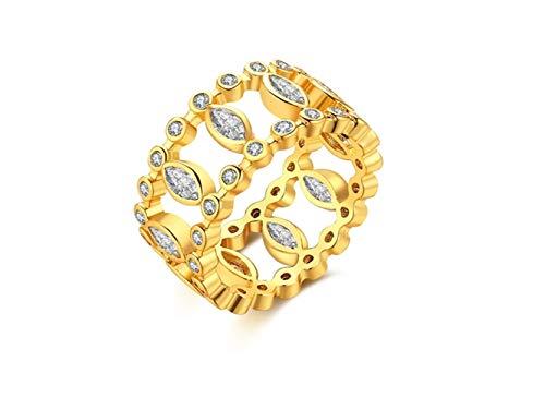 Anello in oro placcato in oro con diamante singolo per le donne (nuovo) anello da donna