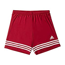 Adidas Entrada 14, Pantaloncini Uomo, Multicolore (Rosso/Bianco), 3XL