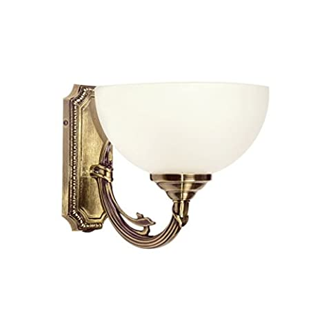 Classic wall light antique brass metal colour