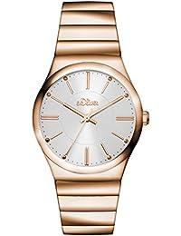 s.Oliver Damen-Armbanduhr Analog Quarz Edelstahl SO-3118-MQ
