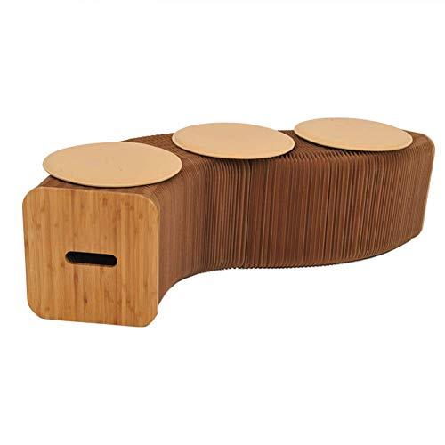 QQXX Pufs reposapiés Estructura Rectangular Bambú