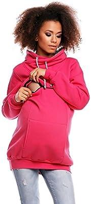 Zeta Ville - Sudadera de lactancia apertura de cremallera - para mujer - 354c