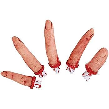 5 abgetrennte Finger Halloween Schocker Horror Kühlschrank Splatter Gag Organ Grusel Partydeko
