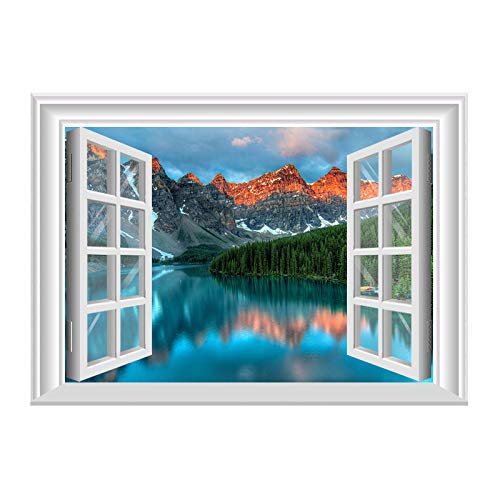 lsaiyy 3D-Effekt gefälschte Fenster Meer Landschaft Wandaufkleber Selbstklebende Wandaufkleber - ZN03-120 * 80cm