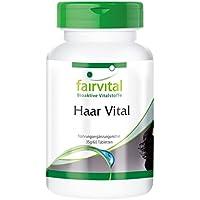 Haar Vital - für 2 Monate - HOCHDOSIERT - 60 Tabletten - mit Vitaminen, Spurenelementen, Bierhefe und Sojaprotein preisvergleich bei billige-tabletten.eu
