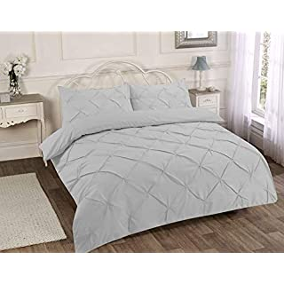 Designer Fancy Luxuries Alford Duvet Cover Sets Bedding Pillow Cases Single, Double, King,Lifestyle Production (Double, Silver / Grey)