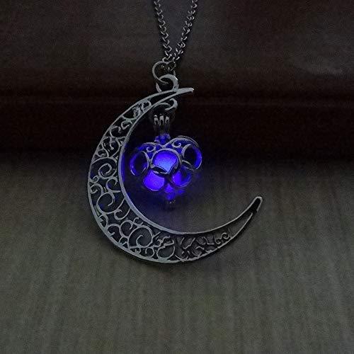 Anhänger Halskette Großes Geschenk für Damen Glow Luminous Hollow Mit Ball Night ()