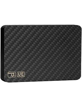 Cartera de tarjeta de credito, PITAKA [MagWallet UE] Titular de la tarjeta magnética de fibra de carbono minimalista...