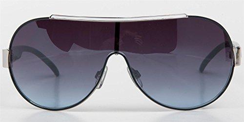 styleBREAKER lunettes de soleil design à verre simple et ornements, unisexe 09020026 Monture blanche / verre dégradé gris