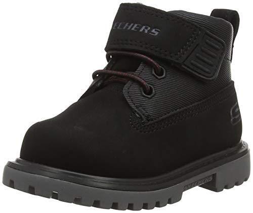 Skechers Jungen Mecca-bolders Klassische Stiefel, Schwarz (Black Blk), 25 EU