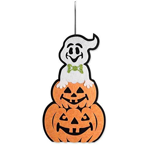 Hotaluyt Hängende Partei-Verein-Dekoration Ornament Fenster-Wand-Aufhänger Halloween-Haus-Innen Kürbis Anhänger Tür Dekor-Zeichen (Halloween-zeichen Zu Nicht Hause)