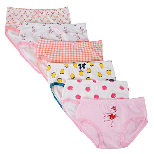 Kidear Mutande Corte da Bambine Piccole in Cotone Morbido Serie per Bambini Confezione da 6