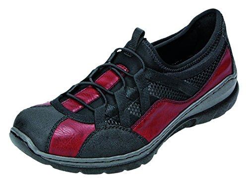 Rieker , Chaussures de ville à lacets pour femme Noir schwarz/wine/schwarz schwarz/wine/schwarz
