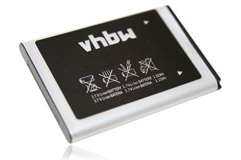 vhbw Li-Ion Akku 600mAh (3.7V) für Handy Smartphone Telefon Samsung SGH-C260, SGH-C270, SGH-C300, SGH-C3520, SGH-C3560, SGH-C3750, (Samsung C270)