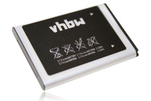 vhbw Li-Ion Akku 600mAh (3.7V) für Handy Smartphone Telefon Samsung SGH-D720, SGH-D730, SGH-E1080, SGH-E1100, SGH-E1107, SGH-E1110, SGH-E1120